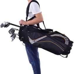 Outdoor Sports Golf Stand Bag Divider Carry Pockets Storage