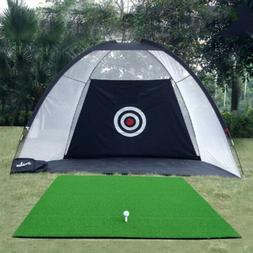 Indoor Outdoor Foldable Gold Practice Training Net Golf Hitt
