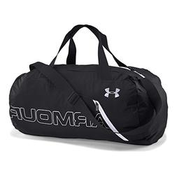 Under Armour Packable Duffle Bag, Black /White, One Size