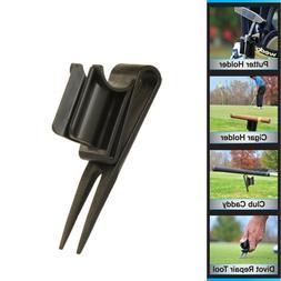 GolfJOC Patented Ultimate 4-in-1 CigarKaddy, Black, 8 x 4.5