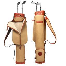 Tourbon Pencil Golf Club Bag Cart Sunday Travel Carrying Vin