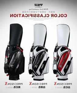 PGM Golf Professional Cart Bag Staff PU Leather Waterproof C