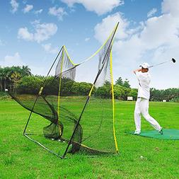 PodiuMax Portable 10x7ft Hitting Net with Carrying Bag - Gol