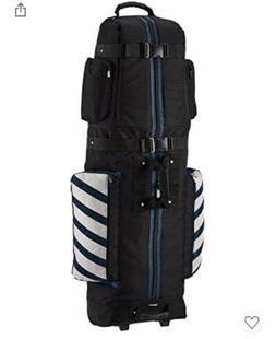 Amazon Basics Premium Soft-Sided Golf Travel Bag Black/BLUE