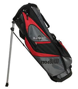 profile golf stand bag black gray red