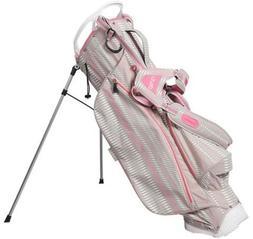 Ouul Python Super Light Golf Stand Bag - Warm Gray/White/Pin