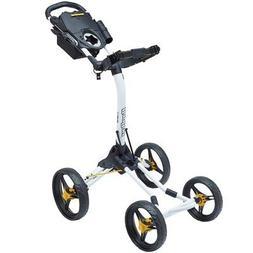 Bag Boy Quad XL Golf Cart, White/Yellow