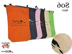 6pcs S06 A99 Golf Travel Cover Shoes Bag Storage Bag with dr