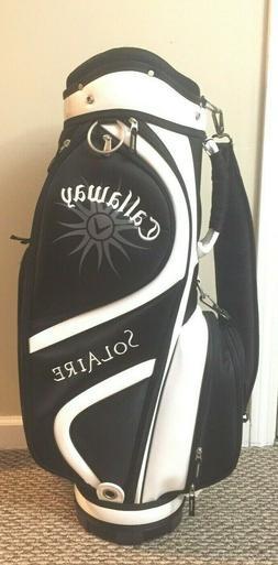 Callaway Solaire Ladies Golf Cart Bag Black White 9 Way Divi