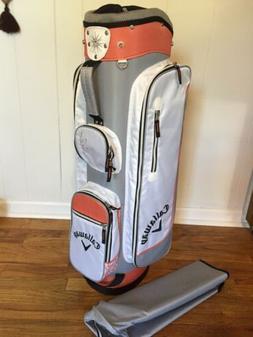 Callaway Solaire Women's Golf Bag White Silver Apricot 6-W