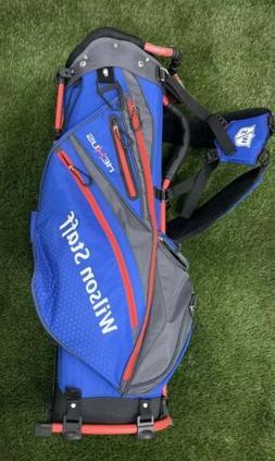 Wilson Staff Nexus Carry Stand Golf Bag Blue Black Red 5-Way