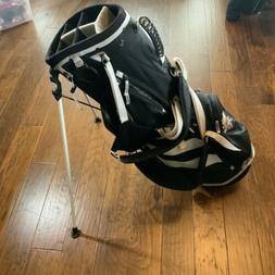 Adidas Stand Golf Bag 6-Way Black/WHITE with NBA THUNDER OKC