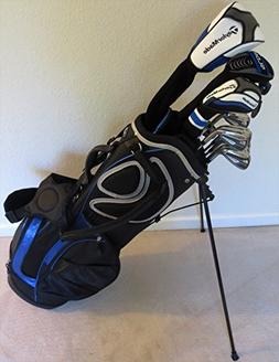 TaylorMade Men's Stiff Golf Clubs Set with Stand Bag