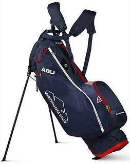 Sun Mountain 2.5+ 14-Way Golf Stand Bag Navy/White/Red USA 2