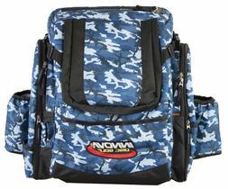 Innova Golf Disc Super Hero Backpack Bag, Blue Camouflage