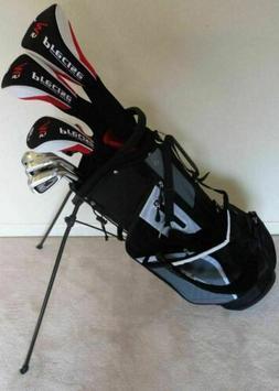 TALL Mens Left Handed Golf Club Full Set Driver, Wood, Hybri