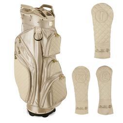 tan ladies golf cart bag with 3