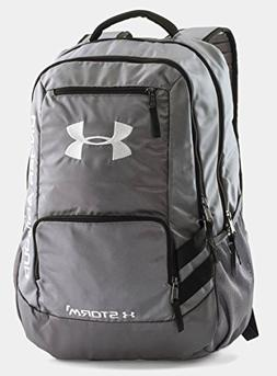 Under Armour Unisex Team Hustle Backpack, Graphite /Silver,
