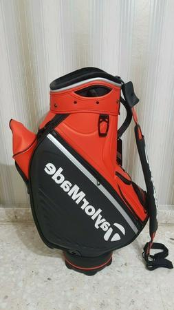 Taylormade Tour Staff Golf Bag Black/Blood Orange