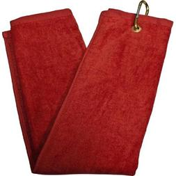Tri-Fold Towel - Red