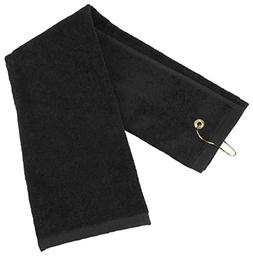 Flammi Tri-Fold Golf Towel with Metal Clip Cotton Terry-Clot