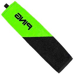 Ping Tri-Fold Towel- Black/Lime Green