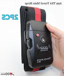2pcs A99 TSA Travel Mate Strap Luggage Digital Dial Combinat