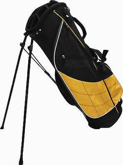 ultra stand bag golf bag black yellow