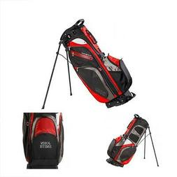 IZZO Versa Stand Golf Bag - Black/Grey/Red - Golf Hybrid Sta