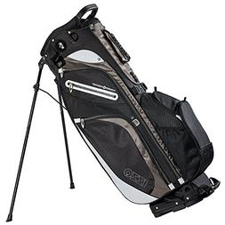 Izzo Versa Stand Golf Bag - Black/Grey - Golf Hybrid Stand B