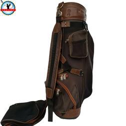 Vintage Knight Golf Bag Black Brown  6-Way Divider Please re