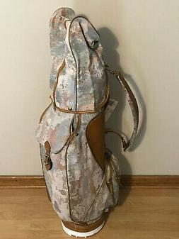 Vintage Titleist Leather & Fabric Golf Bag NICE