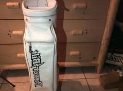 Vintage White Power Bilt Golf Cart Bag