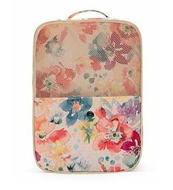 Women's Waterproof Pink Floral Golf Shoes Bag Zipped Sports
