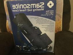 Samsonite Wheeling Golf Club Travel Bag Cover #679 Black Sof