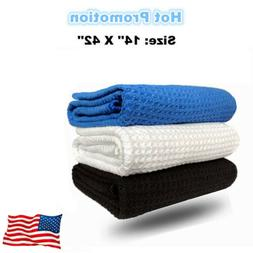 "White Golf Towels 14"" x 42"" Microfiber Waffle Tour Players T"