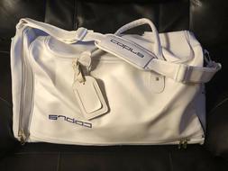 "COBRA White Vinyl Golf Duffle Bag. 20""L x 12""H x 10""W."