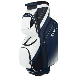 PING Womens Traverse 14-Way Golf Bag - Navy White/White/Mint